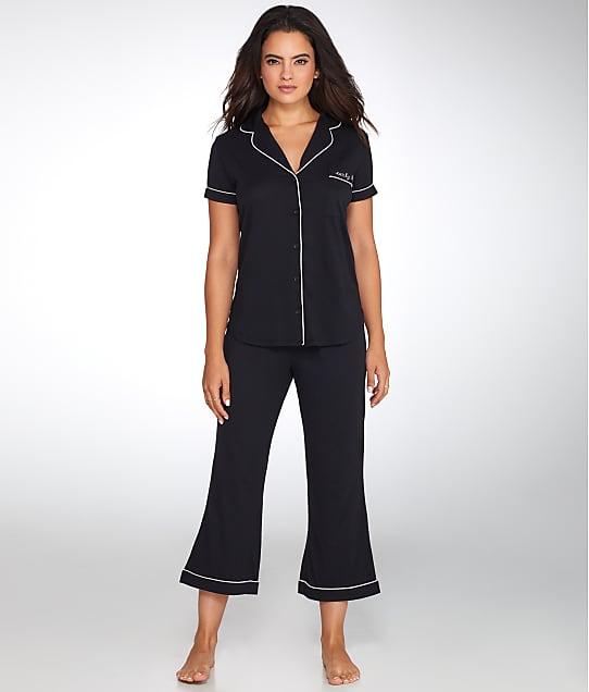 kate spade new york: Early Bird Cropped Knit Pajama Set