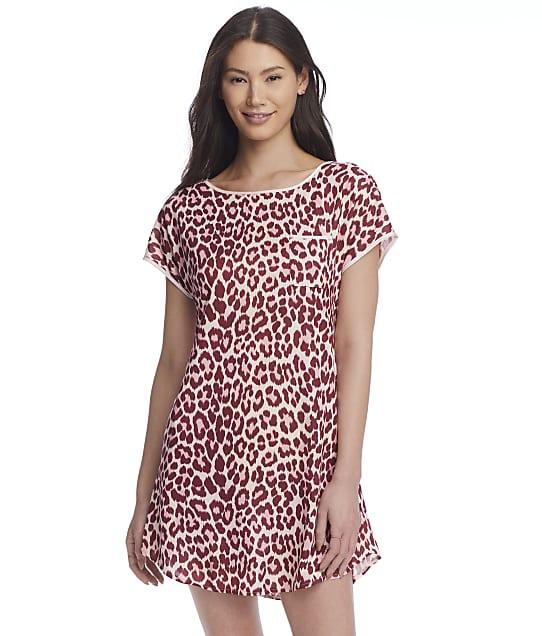 kate spade new york Pink Zebra Knit Sleep Shirt in Classic Leopard(Front Views) KS32159
