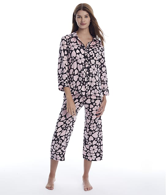 kate spade new york: Clover Hearts Cropped Woven Pajama Set