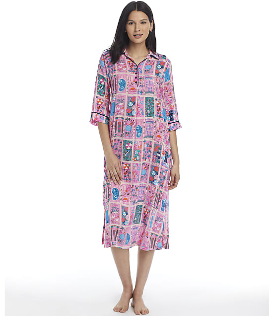 kate spade new york Woven Nightgown in Rooftop Scene(Front Views) KS82154