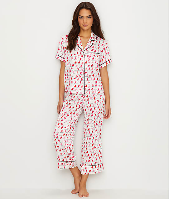 kate spade new york: Charmeuse Cropped Pajama Set
