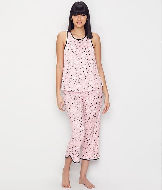kate spade new york: Polka Dot Modal Cropped Pajama Set