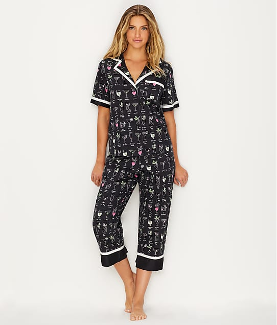 kate spade new york: Sateen Woven Cocktail Pajama Set