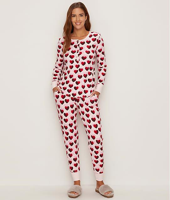 kate spade new york Double Hearts Jersey Pajama Set in Double Hearts KS91850F-HRT