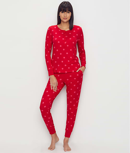 kate spade new york Deco Dots Jersey Pajama Set in Large Deco Dot KS91850F-RED