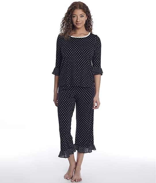 kate spade new york: Flutter Crop Modal Knit Pajama Set