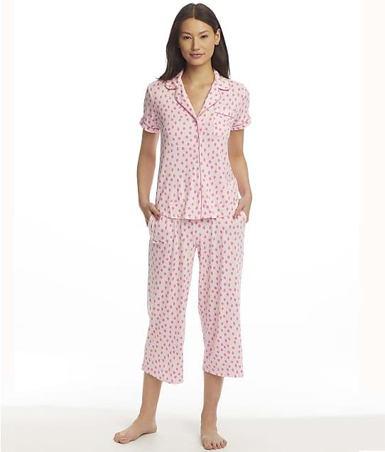 kate spade new york Modal Knit Cropped Pajama Set in Flamingo Dot(Front Views) KS92152