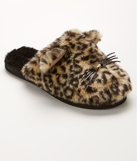 kate spade new york: Belindy Faux Fur Cat Slippers