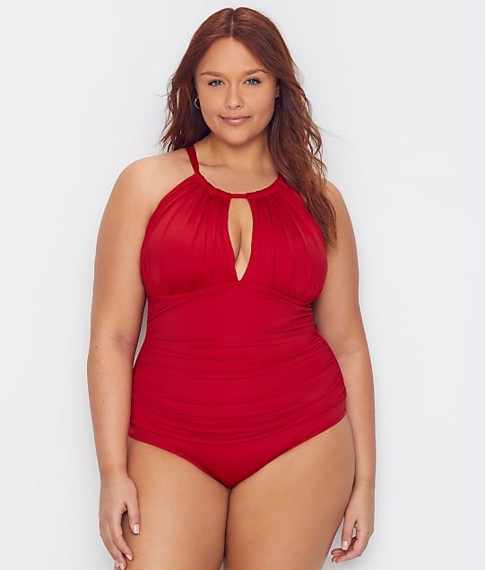 Kenneth Cole: Plus Size Core Power Shaping One-Piece
