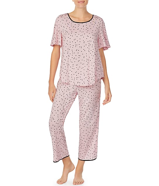 kate spade new york: Scattered Dot Modal Cropped Pajama Set