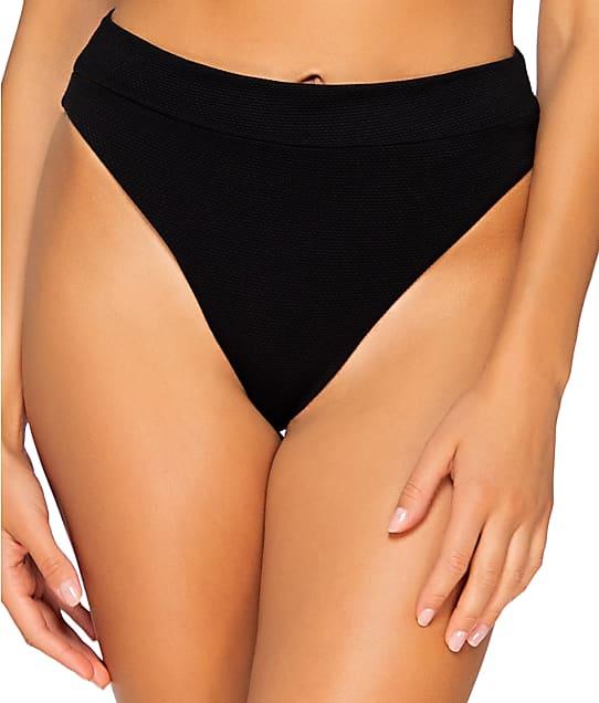 B Swim Raven Cove High-Waist Bikini Bottom in Raven L38-RAVEN