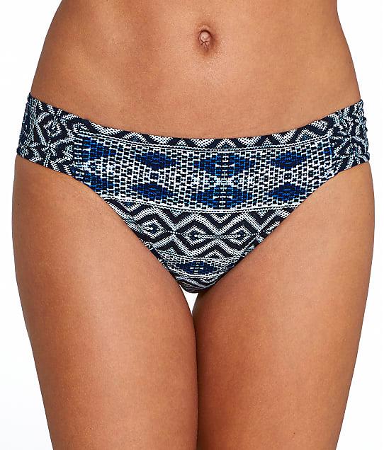 La Blanca: Designer Jeans Shirred Hipster Bikini Bottom