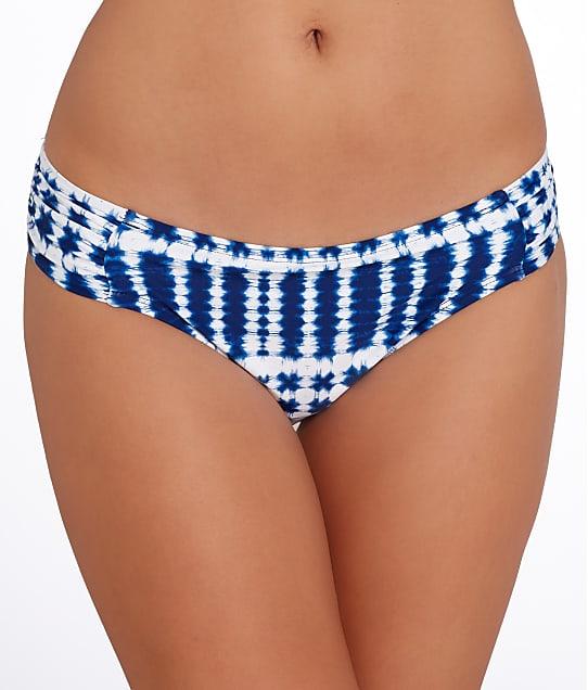 La Blanca: Moody Blues Shirred Bikini Bottom