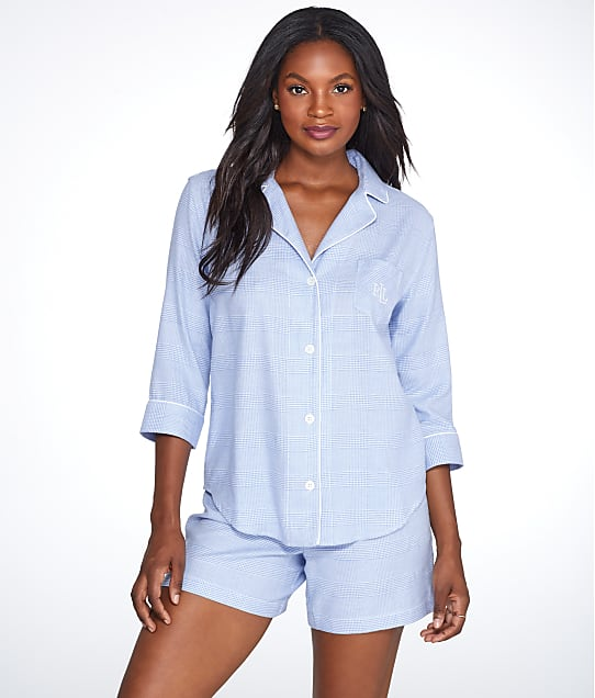 Lauren Ralph Lauren: Classic Plaid Woven Shorts Pajama Set