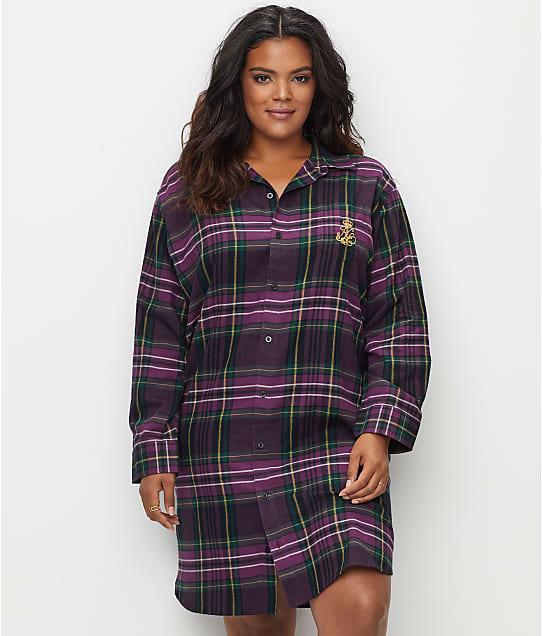 Lauren Ralph Lauren: Plus Size Classic Flannel Sleep Shirt
