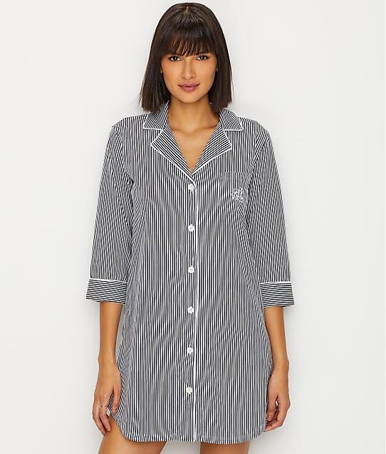 Lauren Ralph Lauren Further Lane Woven His Shirt in Navy Stripe 813702