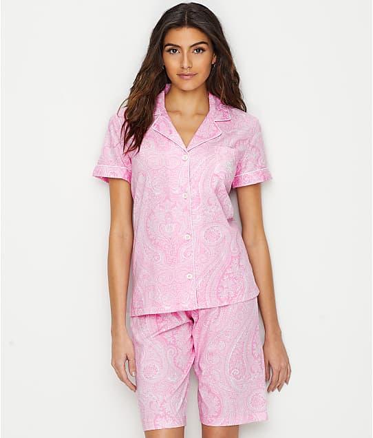 Lauren Ralph Lauren: Cotton Knit Bermuda Pajama Set