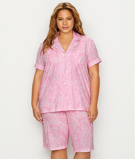 Lauren Ralph Lauren: Plus Size Cotton Bermuda Pajama Set