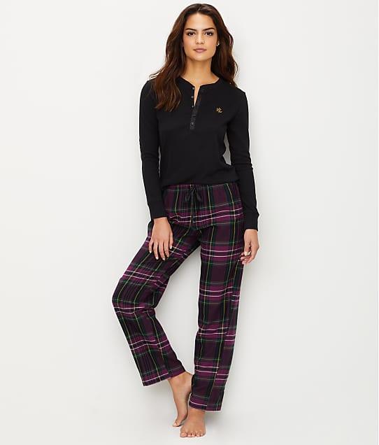 Lauren Ralph Lauren: Classic Flannel Henley Pajama Set