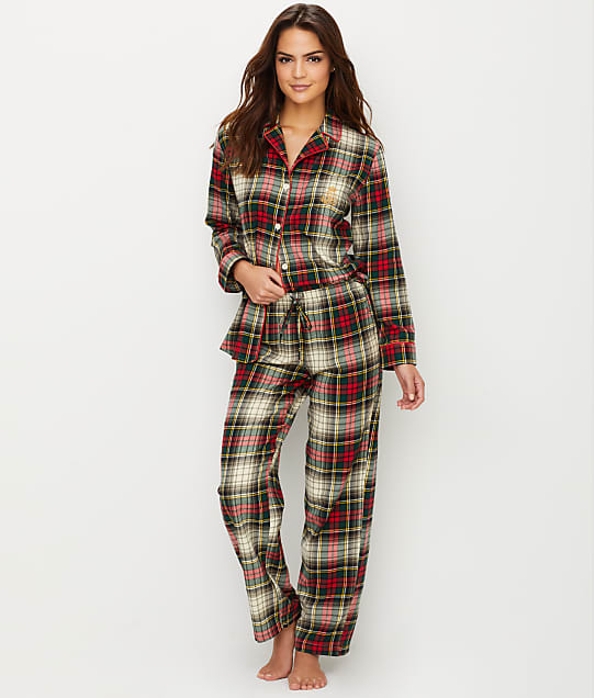 enjoy free shipping hottest sale best place Plus Size Classic Flannel Pajama Set