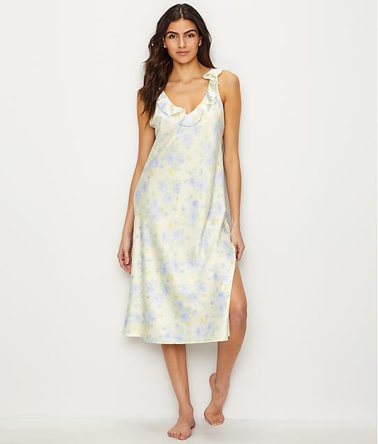 Lauren Ralph Lauren Floral Satin Night Gown Sleepwear LN01572 at ...