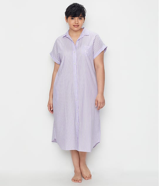 Lauren Ralph Lauren: Classic Stripe Woven Ballet Sleep Shirt