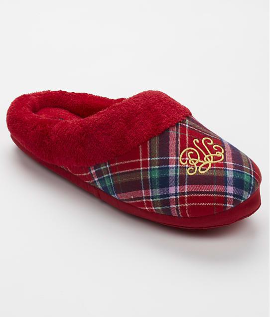 Lauren Ralph Lauren: Red Plaid Comfy Slipper