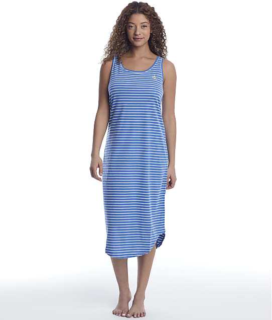 Lauren Ralph Lauren Sleeveless Tank Ballet Knit Gown in Dark Blue Stripe LN02058