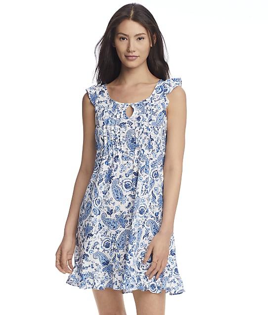 Lauren Ralph Lauren Flutter Sleeve Knit Short Gown in Paisley LN22093