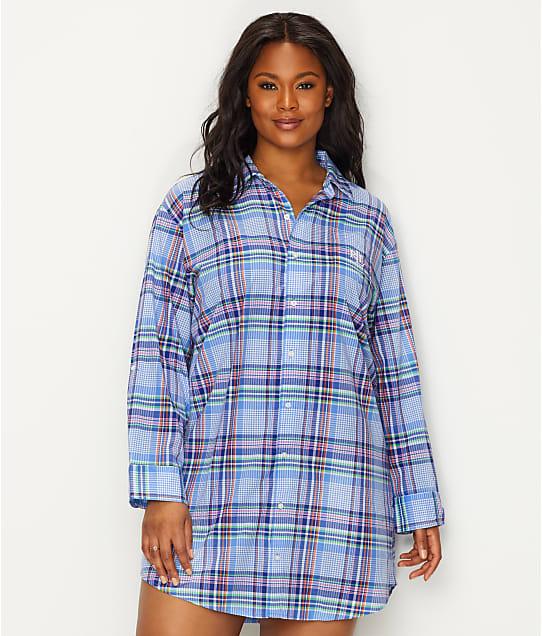 Lauren Ralph Lauren: Plus Size His Shirt Plaid Woven Sleep Shirt