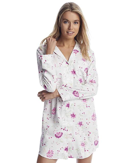 Lauren Ralph Lauren: Ivory Floral Knit Sleep Shirt