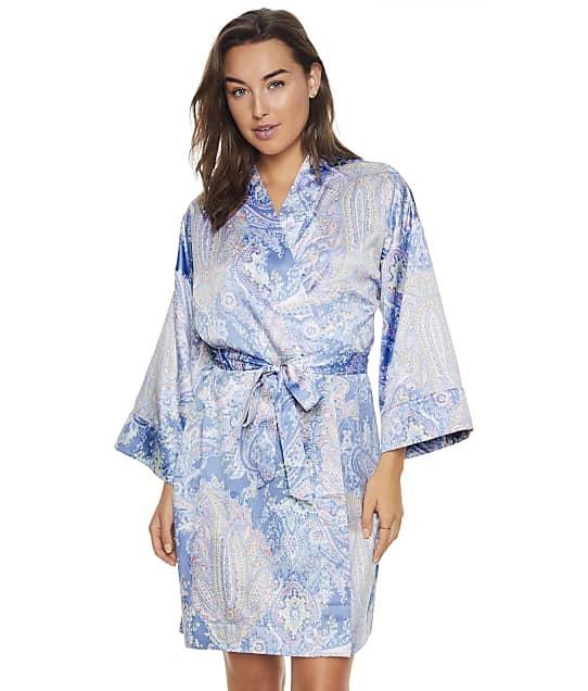 Lauren Ralph Lauren Blue Paisley Satin Robe in Blue Paisley LN42103
