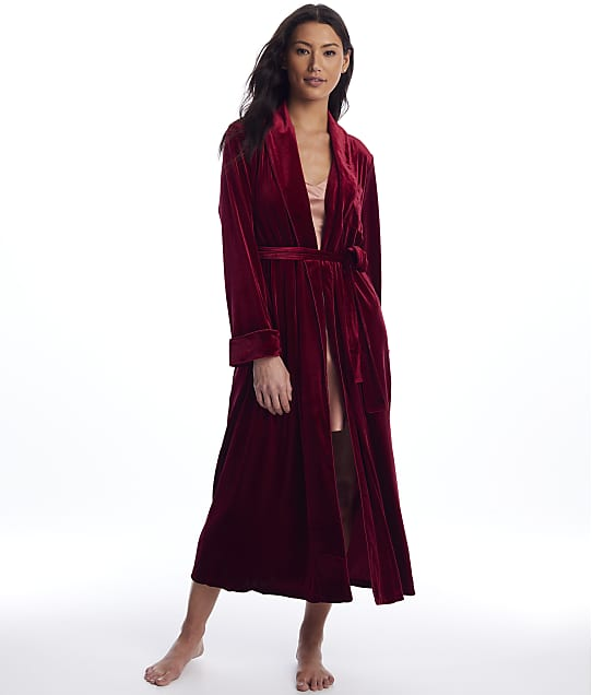 Lauren Ralph Lauren: Berry Velvet Long Robe