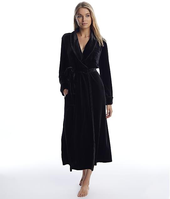 Lauren Ralph Lauren: Black Velvet Long Robe
