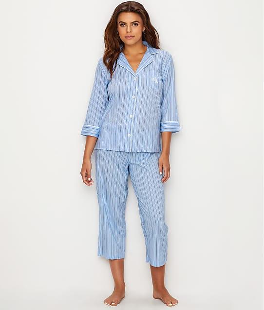 Lauren Ralph Lauren: Classic Stripe Woven Pajama Set