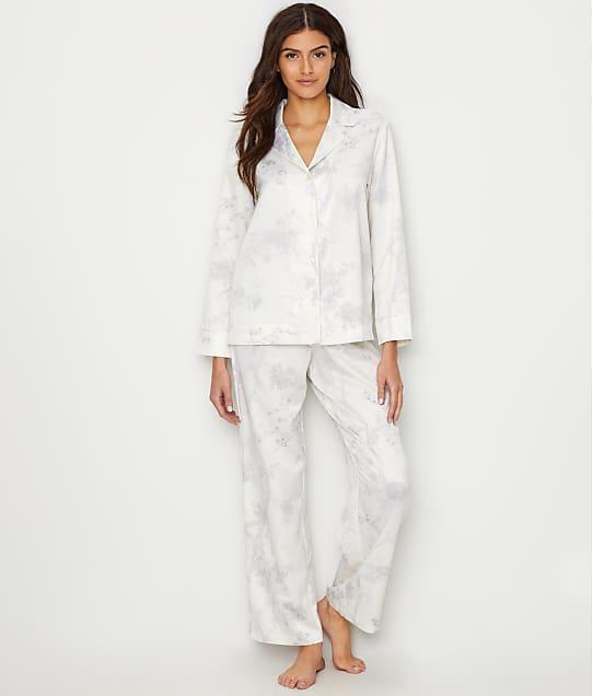 Lauren Ralph Lauren Satin Pajama Set in White Print LN91623