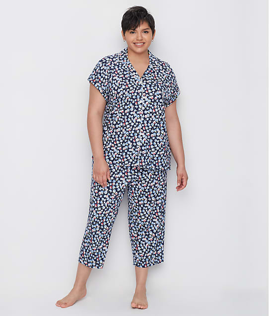 Lauren Ralph Lauren: Plus Size Classic Capri Knit Pajama Set