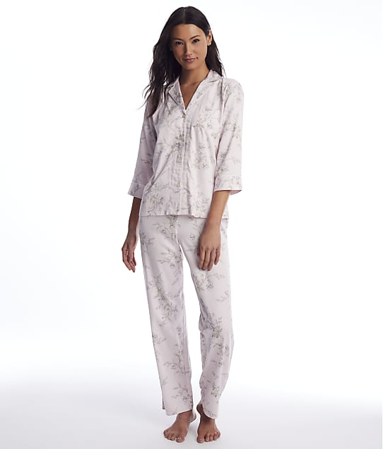 Lauren Ralph Lauren: Pink Floral Woven Pajama Set