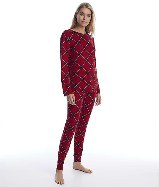Lauren Ralph Lauren: Red Print Knit Jogger Pajama Set
