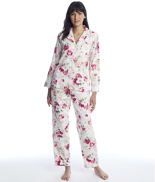 Lauren Ralph Lauren: Ivory Rose Satin Pajama Set