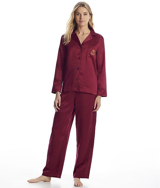 Lauren Ralph Lauren: Berry Satin Pajama Set