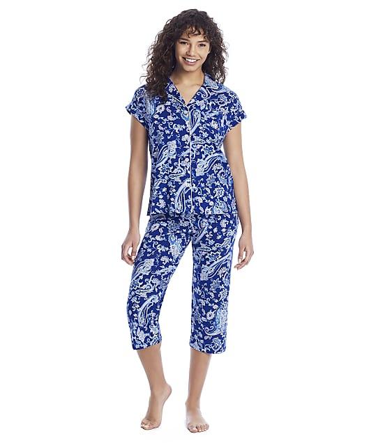 Lauren Ralph Lauren: Cropped Woven Pajama Set