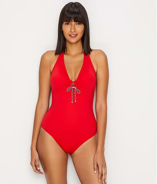 Lauren Ralph Lauren: Beach Club Lace-Up Slimming One-Piece