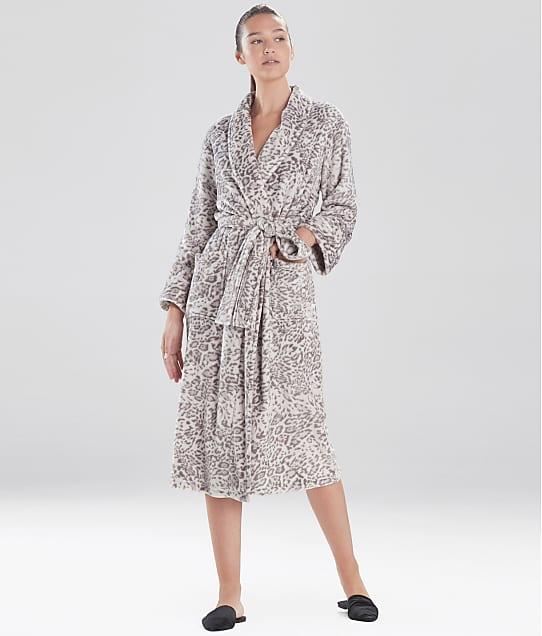 N Natori: Cashmere Fleece Leopard Robe
