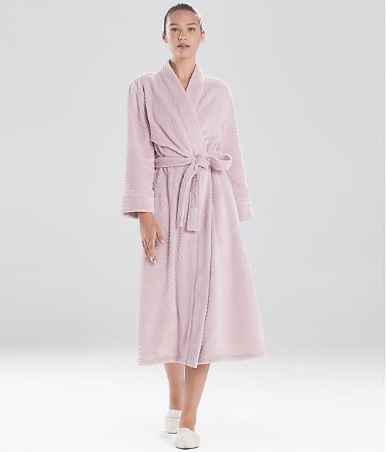 N Natori: Embossed Waves Fleece Robe