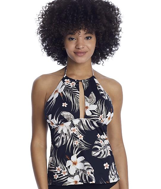 Leilani Kauai Breeze Tropics Tankini Top in Black E720608