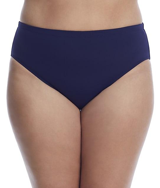 Leilani Plus Size Solids Smoothing Bikini Bottom in Navy E850040