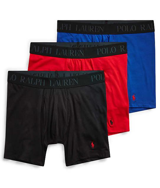 Polo Ralph Lauren Lux 4D-Flex Cotton Modal Boxer Brief 3-Pack in Royal / Red / Black LFBBP3