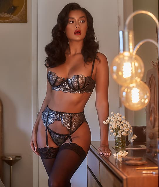 Roma: Strappy Metallic Garter Set