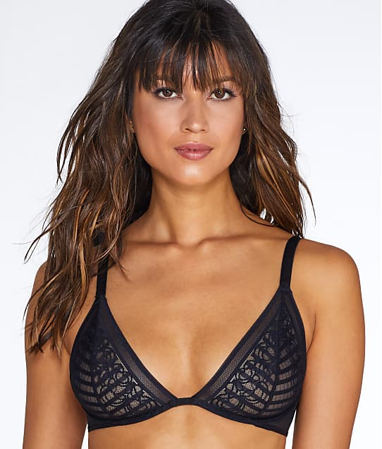 Lily of France: Sheer Striped Bra